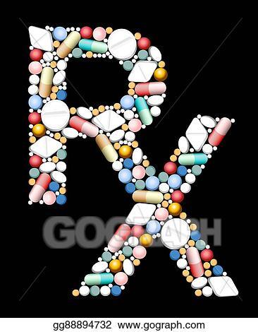 Vector Illustration Medical Prescriptions Rx Symbol Eps Clipart
