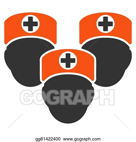 Stock Illustration Medical Staff Icon Clipart Drawing Gg81422400