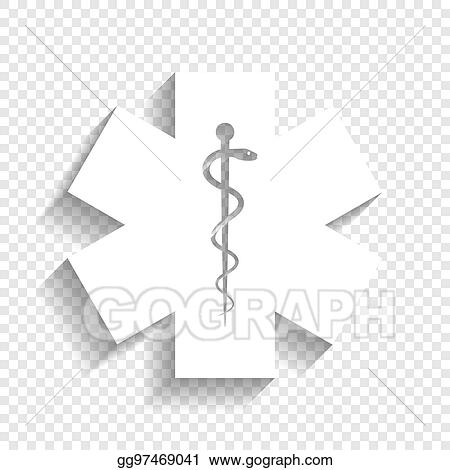 Vector Art Medical Symbol Of The Emergency Or Star Of Life Vector