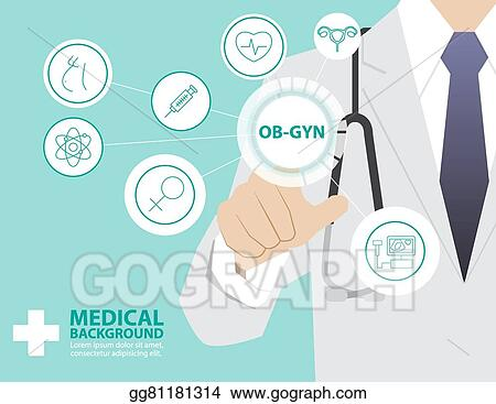 Vector Stock - Medicine doctor working with modern virtual ...