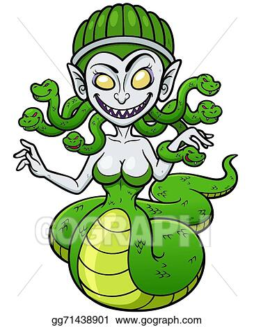 vector stock medusa clipart illustration gg71438901 gograph rh gograph com Medusa Cartoon perseus and medusa clipart