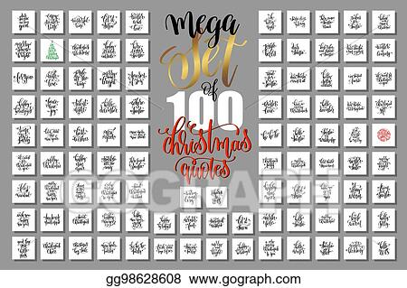 mega set of 100 christmas lettering quotes to new year