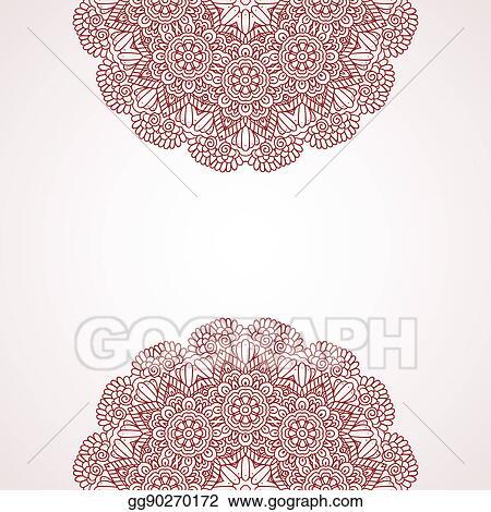 Stock Illustrations Mehndi Henna Design Background Stock Clipart