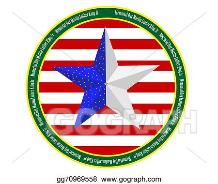 vector illustration memorial day martin luther king jr stock clip