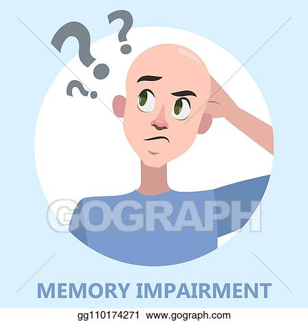 Eps 10memory Loss Mental Illness Concept Stock Vector
