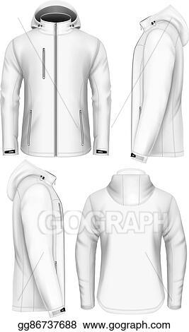 Men Hooded Softshell Jacket Design Template