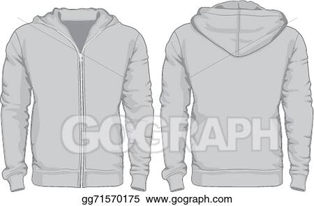 Vector Art - Men\'s hoodie shirts template. front and back views ...