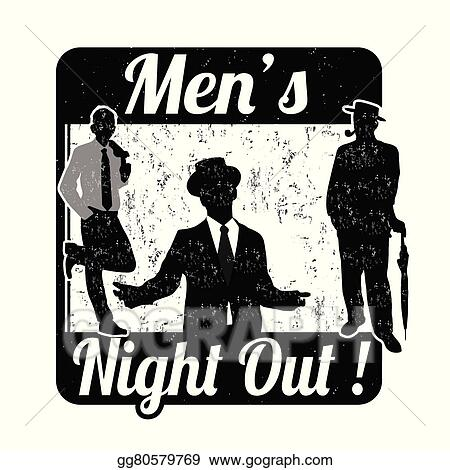a42635db03 Vector Stock - Men s night stamp. Clipart Illustration gg80579769 ...