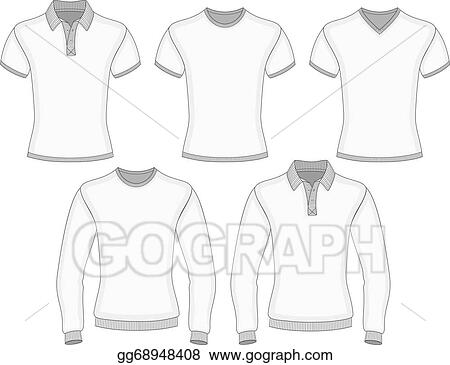e3dd15cd1cd1a Vector Art - Men's polo shirt and t-shirt. Clipart Drawing ...