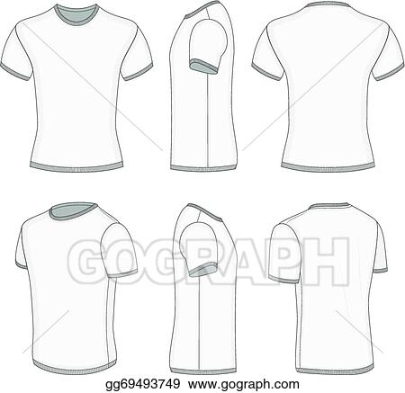 ec09b9d07 Vector Stock - Men's white short sleeve t-shirt. Stock Clip Art ...