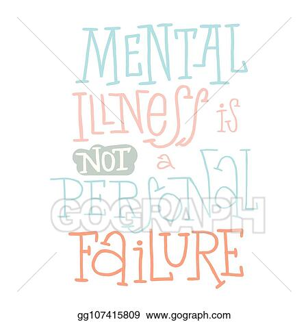Eps Illustration Mental Health Quotes Vector Illustration Type