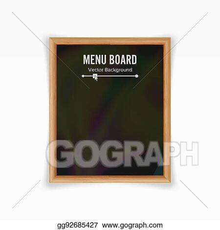 vector stock menu black board vector empty chalkboard blank