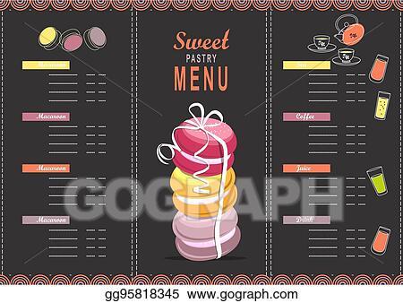 Vector Stock Menu Design Template Dessert Clipart Illustration