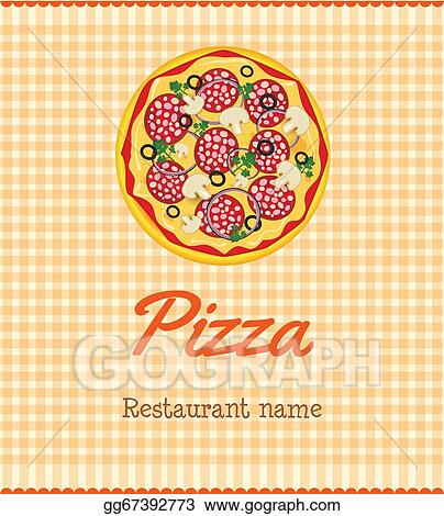 eps vector menu template with pizza stock clipart illustration