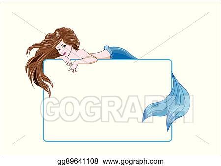 Vector Clipart - Mermaid frame. Vector Illustration gg89641108 - GoGraph