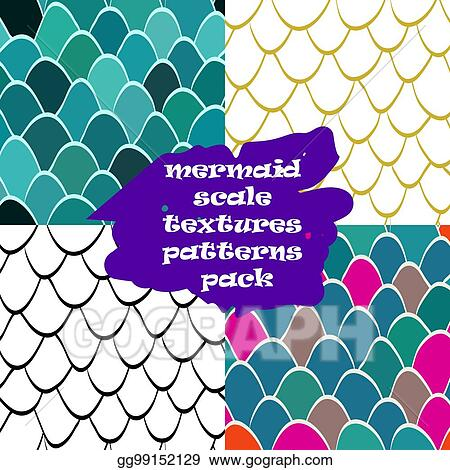 Eps Vector Mermaid Scale Texture Pattern Seamless Reptile