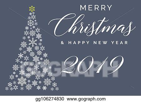 vector art merry christmas and happy new year 2019 lettering template greeting card or invitation winter holidays related typograph eps clipart gg106274830 gograph merry christmas and happy new year 2019