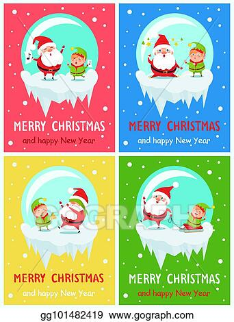 Vector art merry christmas and happy new year greeting cards merry christmas and happy new year greeting cards m4hsunfo