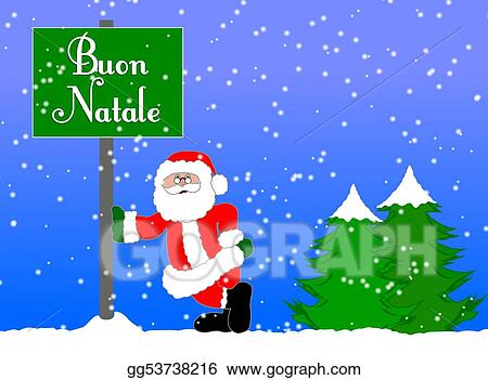 merry christmas background italian