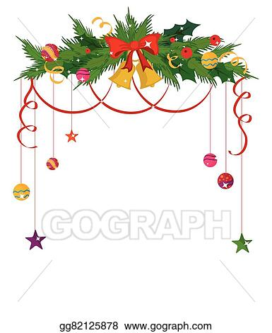 Merry Christmas Border And Decoration Frame