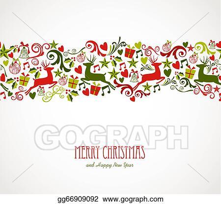 Merry Christmas Decorations Elements Border