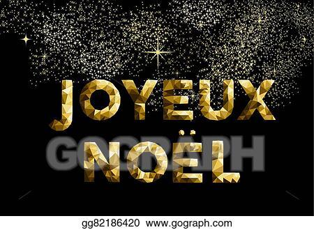 Merry christmas french joyeux noel