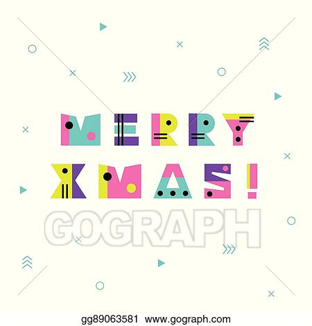 90s Christmas Background.Vector Art Merry Christmas Geometric Background Clipart Drawing