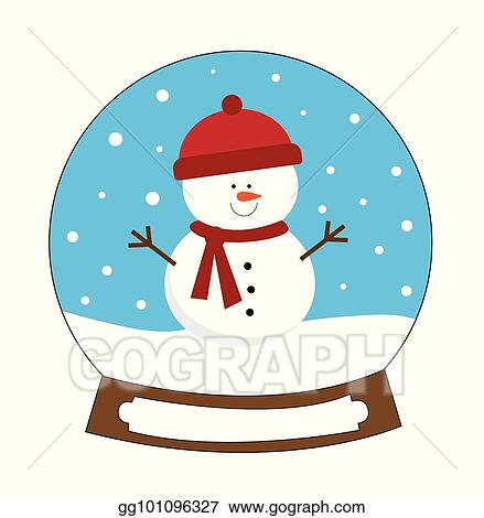 Merry Christmas Snowman Snowglobe