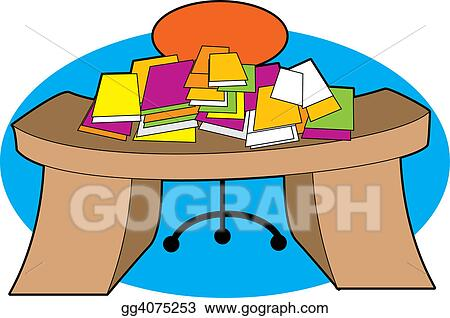 stock illustration messy desk clipart illustrations gg4075253 rh gograph com messy desk clipart free Unorganized Desk Cartoon