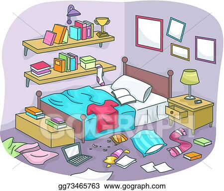 vector stock messy room clipart illustration gg73465763 gograph rh gograph com messy living room clipart Tidy Room Clip Art