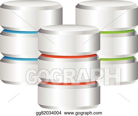 EPS Illustration - Metal cylinder. webhosting, server, mainframe ...