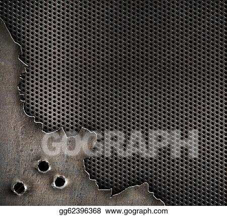 Stock Photography Metal With Bullet Holes Military