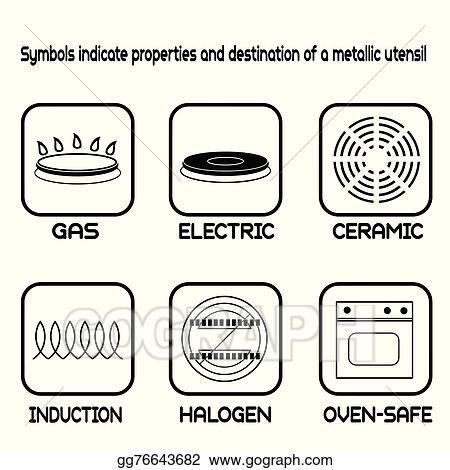 Vector Stock Metallic Tableware Symbols For Food Grade Metal