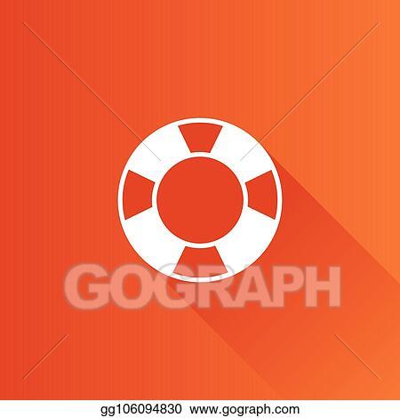 4de1361f224f Vector Stock - Metro icon - ring buoy. Stock Clip Art gg106094830 ...