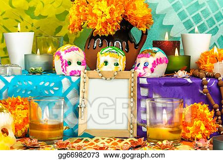 Stock Photo Mexican Day Of The Dead Altar Dia De Muertos Stock