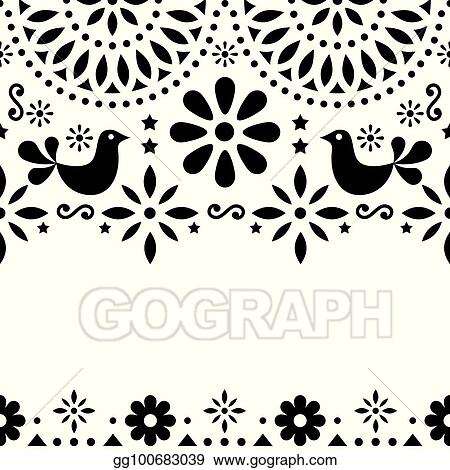 Vector stock mexican folk art vector greeting card retro wedding mexican folk art vector greeting card retro wedding or party invitation with modern twist stopboris Image collections