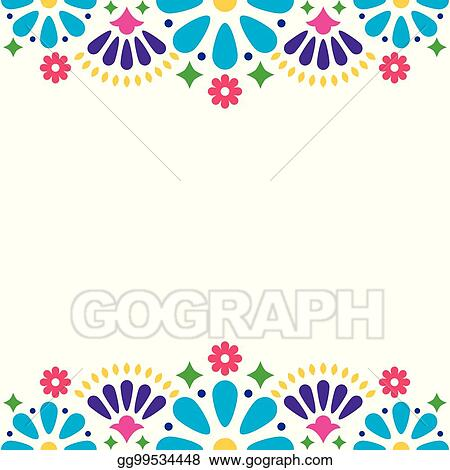 Vector illustration mexican folk vector wedding or party mexican folk vector wedding or party invitation floral happy greeting card colorful design with flowers and abstract shapes m4hsunfo