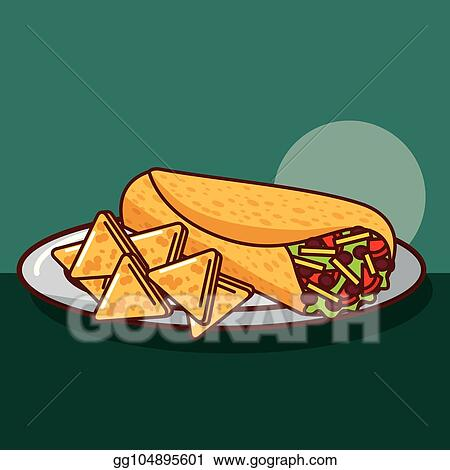 Vector Illustration - Tasty nutritious snack with vegetables and sauces  set. EPS Clipart gg104166933 - GoGraph