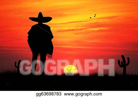 drawing mexican man clipart drawing gg63698783 gograph rh gograph com Sunset Clip Art Sunset Clip Art