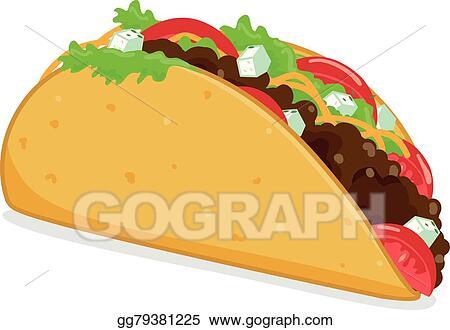 Clip Art Vector Mexican Taco Stock Eps Gg79381225 Gograph
