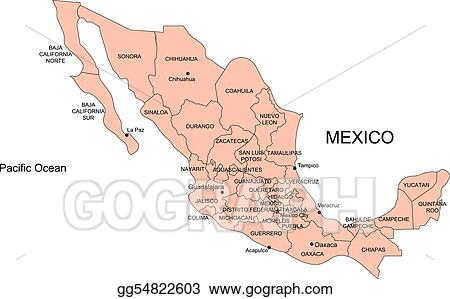 Vector Art - Mexico with administrative districts. Clipart ... on map of greece drawing, map of russia drawing, usa map drawing, map of world drawing, map of jamaica drawing, map of india drawing, map of germany drawing, map of france drawing, map of north america drawing, map of japan drawing, map spain drawing, map of virginia drawing, map of rome drawing, map of iraq drawing, map of south america drawing, map of arizona drawing, map of egypt drawing, map of florida drawing, map of asia drawing, map of quebec drawing,