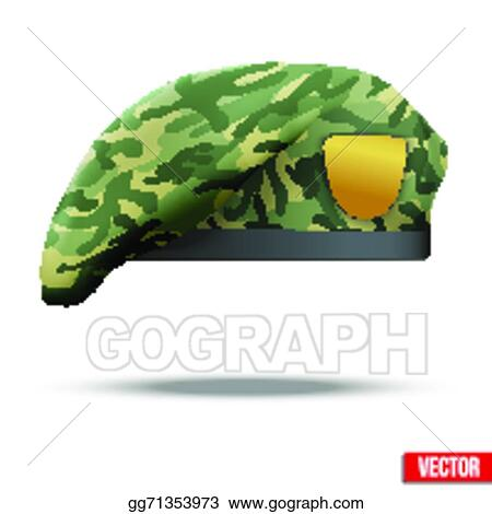 Clip Art Vector - Military camouflage beret special forces. Stock ... 29efc2d260b