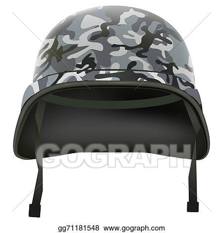 e3e4a6a842d889 Military helmet with camo pattern. Isolated on white background. Bitmap  copy.