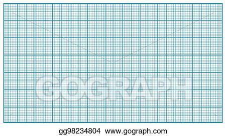 vector illustration millimeter paper vector blue graphing paper
