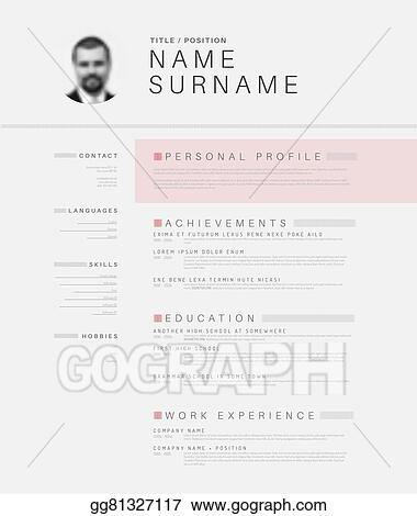 Eps Vector Minimalistic Black And White Cv Resume Template