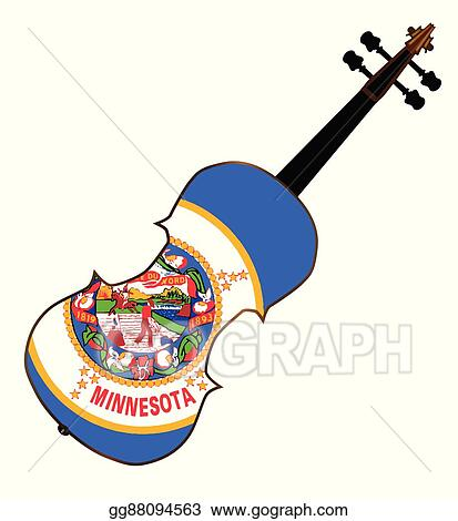 vector art minnesota state fiddle eps clipart gg88094563 gograph rh gograph com cat and fiddle clipart cat and fiddle clipart