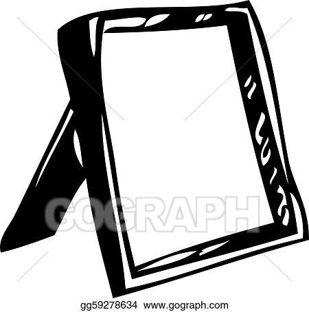 Black And White Mirror Image Clip Art, Black And White Mirror Clipart