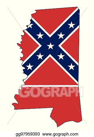 Mississippi State Map Outline.Vector Stock Mississippi State Map Outline And Flag Stock Clip