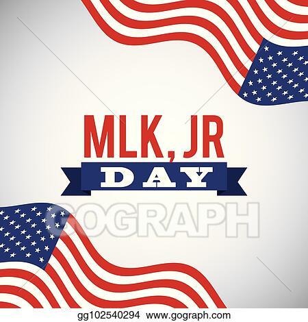 Clip Art Vector Mlk Jr Day National Celebration Card Invitation