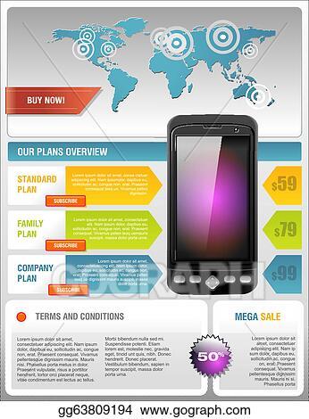Clip Art Vector - Mobile cell smart phone telecom provider